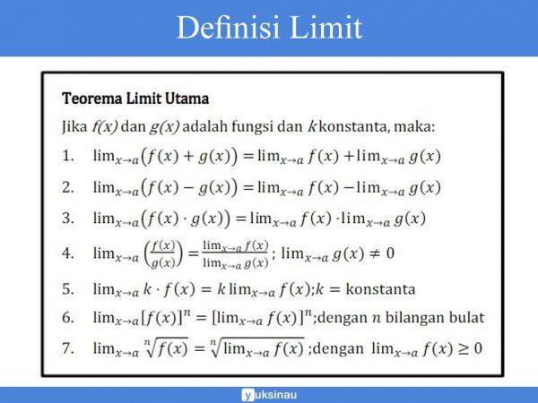 Materi Limit Fungsi Aljabar